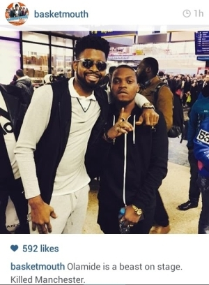 Basketmouth Called Olamide A Beast After An Event In Manchester See Why [photos]